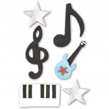 Set 6 decoraciones de azúcar Música