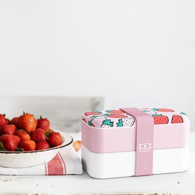 Fiambrera doble Monbento fresas