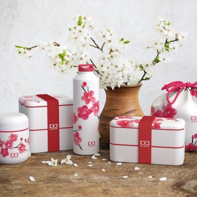 Fiambrera doble Monbento square 1,7 L blossom