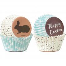 Papel mini cupcakes x100 Pascua feliz
