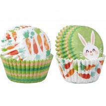 Papel mini cupcakes x100 Conejo Pascua