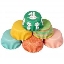 Papel cupcakes x150 Pascua feliz