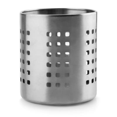Bote utensilios agujeros acero