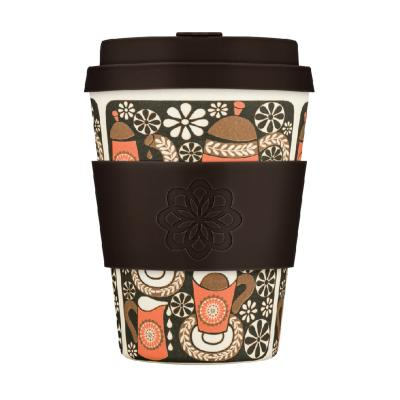 Taza bambú tapa Ecoffee Waterfall 340 ml Morning