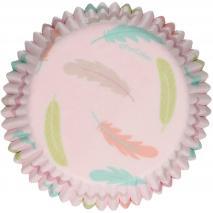 Papel cupcakes x48 Plumas