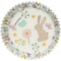 Paper cupcakes x48 Animals primavera