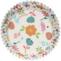 Papel cupcakes x48 Floral