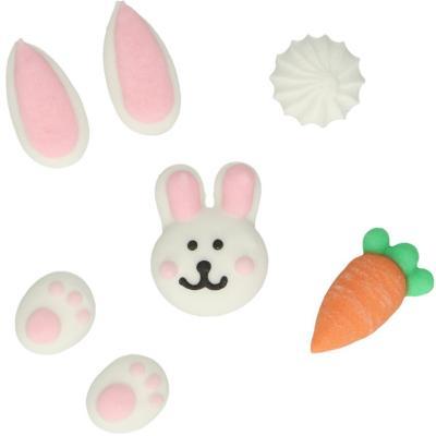 Set 8 decoraciones de azúcar Pascua
