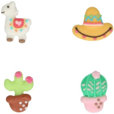 Set 8 decoraciones de azúcar Alpaca