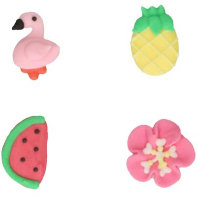 Set 8 decoraciones de azúcar Tropical