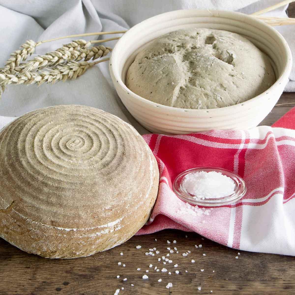 Banetton cesta levado fermentar pan redondo 25 cm