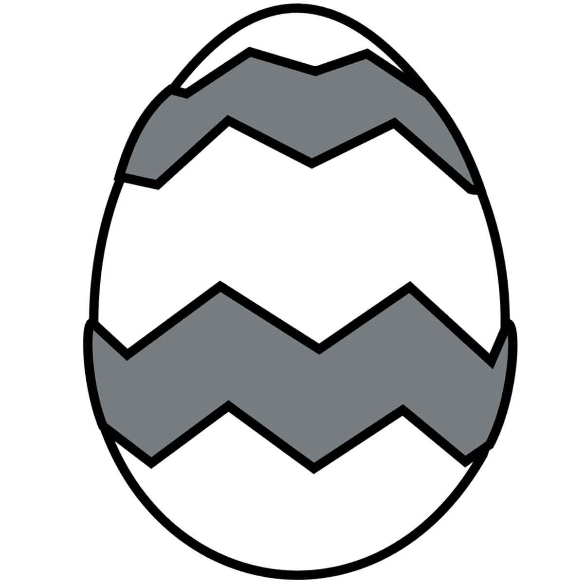 Molde Mona Pascua chocolate Huevo grabado Zigzag