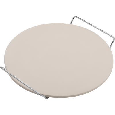 Piedra pizza redonda con soporte 33 cm