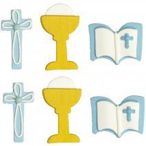 Set 6 decoraciones de azúcar Primera Comunión