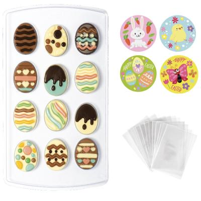 Set molde chocolate Huevos Pascua