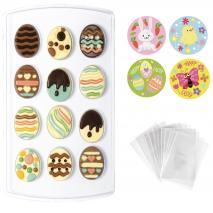 Set molde chocolate Huevos Pascua