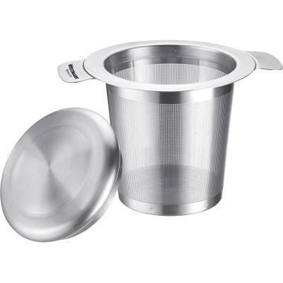 Filtro infusiones y té acero con tapa
