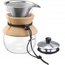 Cafetera filtre slow coffee amb tapa i filtre acer