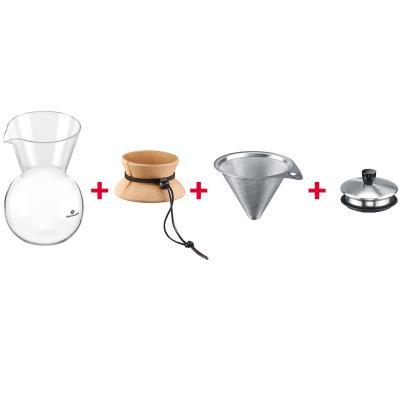 Cafetera filtro Slow coffee tapa y filtro acero