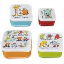 Set 4 fiambreras snack Monsters