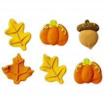 Set 6 decoraciones de azúcar Bosque