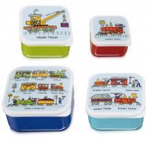 Set 4 fiambreras snack Trens