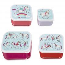 Set 4 fiambreras snack Unicorns