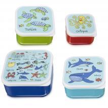 Set 4 fiambreras snack Ocean