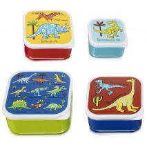 Set 4 fiambreras snack Dinosaurios