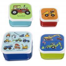 Set 4 fiambreras snack Trucks