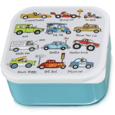 Set 4 fiambreras snack coches