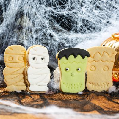 Set 2 cortadores galletas plástico Monstruo Momia
