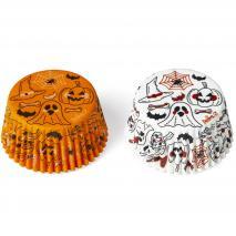 Papel cupcakes x36 Calabaza y Fantasma