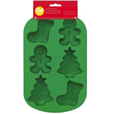 Molde silicona 6 cavidades Navidad