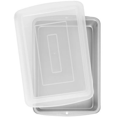 Molde metálico rectangular con tapa 32x22