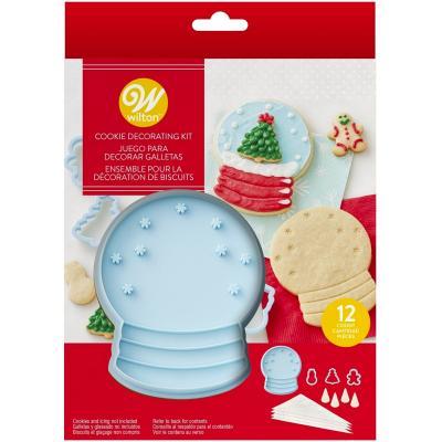Juego 12 piezas decoración Galletas Bola de nieve