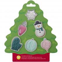 Set 6 cortadores galletas Navidad en árbol