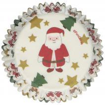 Papel cupcakes x48 Christmas