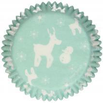 Papel cupcakes x48 Winter Wonderland
