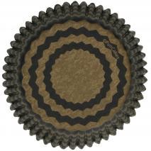 Paper cupcakes x48 Chevron daurat