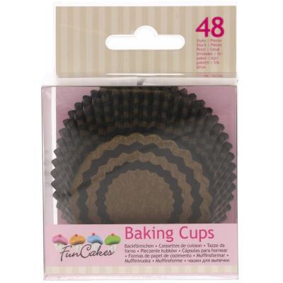 Papel cupcakes x48 Chevron dorado