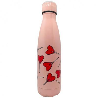 Botella térmica Nerthus 500 ml piruleta corazones