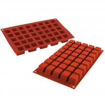 Molde mini cuadrados 40 cav. x13 ml