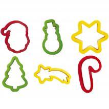 Cortador galletas plástico Navidad