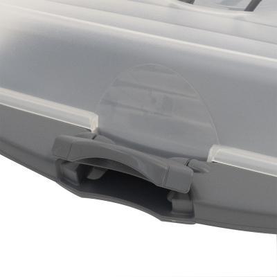 Transporta pasteles rectangular gris