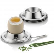 4x soporte huevo duro egg cup acero