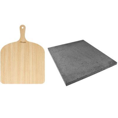 Set piedra pizza Etna y pala pizza madera