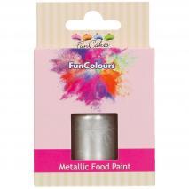 Pintura alimentaria metálica 30 ml Plata