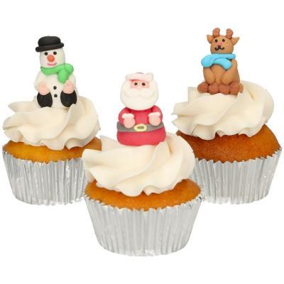 Set 3 decoraciones de azúcar 3D Navidad