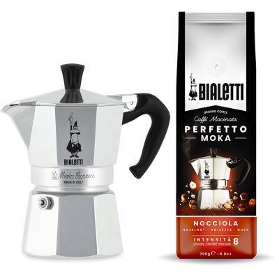 Set regalo Cafetera italiana Bialetti Moka y Café 200 g